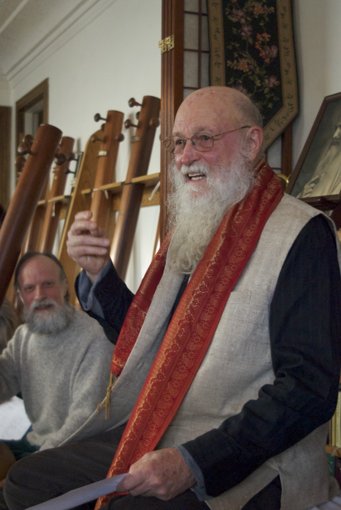 Terry Riley leading a raaga class.